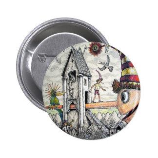 Funny Pinocchio 6 Cm Round Badge