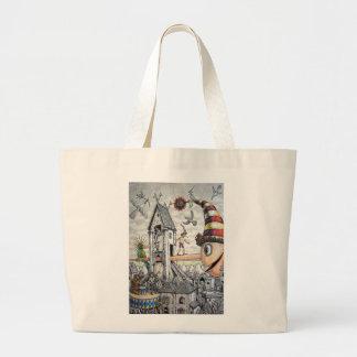 Funny Pinocchio Tote Bags