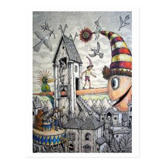 Funny Pinocchio Postcard