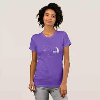 Funny Pioneer plaque single woman T-Shirt