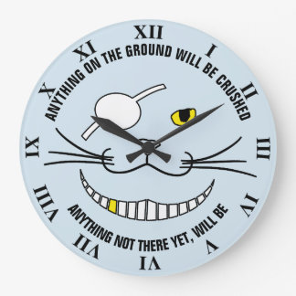 Funny Pirate Black Smiling Cat With An Eye Patch Clock
