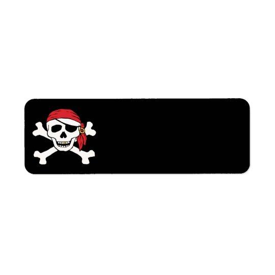 Funny Pirate Return Address Label