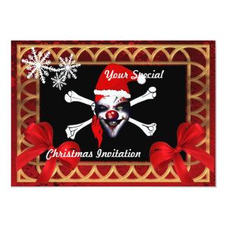 Funny pirate skull,  Christmas 13 Cm X 18 Cm Invitation Card