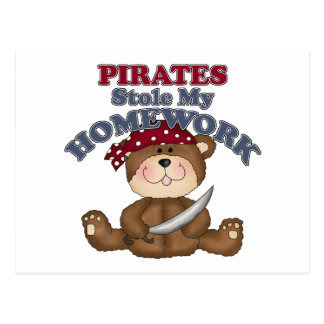 Funny Pirates Stole My Homework Postcard