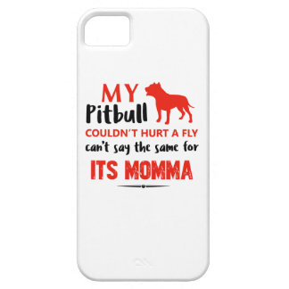 Funny Pit-bull Mommy designs Case For The iPhone 5