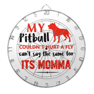 Funny Pit-bull Mommy designs Dartboard