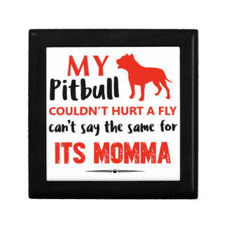 Funny Pit-bull Mommy designs Gift Box