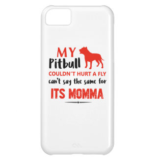 Funny Pit-bull Mommy designs iPhone 5C Case