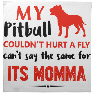 Funny Pit-bull Mommy designs Napkin