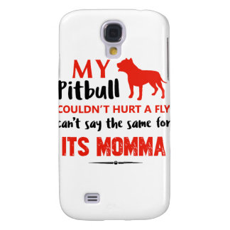Funny Pit-bull Mommy designs Samsung Galaxy S4 Case