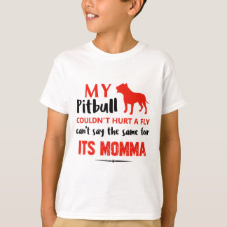 Funny Pit-bull Mommy designs T-Shirt