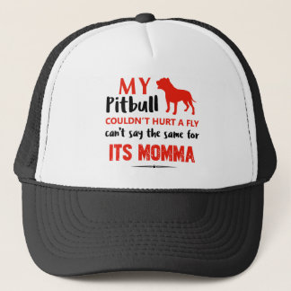 Funny Pit-bull Mommy designs Trucker Hat