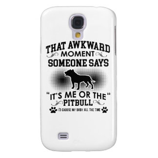Funny Pitbull Designs Galaxy S4 Cover