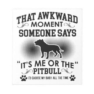 Funny Pitbull Designs Notepad