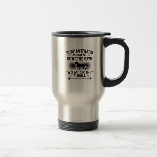 Funny Pitbull Designs Travel Mug