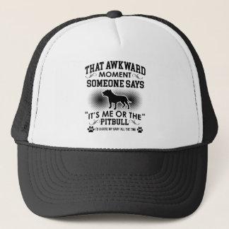 Funny Pitbull Designs Trucker Hat