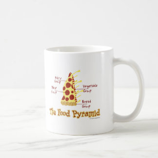 Funny Pizza Food Pyramid Coffee Mug