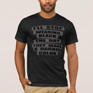 funny plain black  tshirt