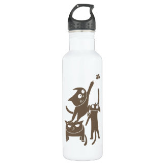 Funny Playful Cats 710 Ml Water Bottle