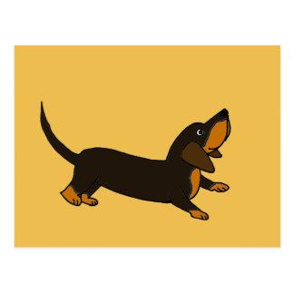Funny Playful Dachshund Dog Postcard
