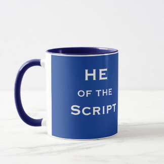 Funny Playwright Joke Title He of the Script Name Mug