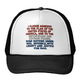 Funny Pledge of Allegiance Cap