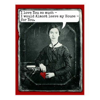 Funny Poet Emily Dickinson Valentine's Day Postcard
