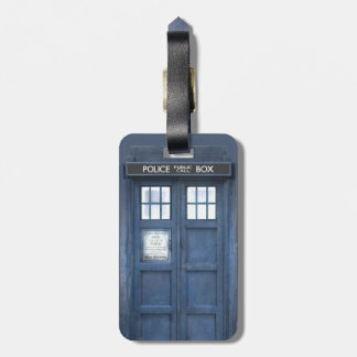 Funny Police Box travellers Luggage Tag