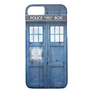 Funny Police phone Public Call Box iPhone 8/7 Case