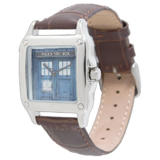 Funny Police phone Public Call Box Wrist Watch
