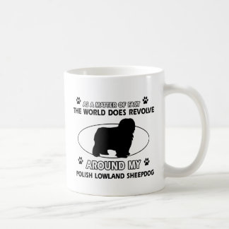 Funny POLISH LOWLAND SHEEPDOG designs Coffee Mug