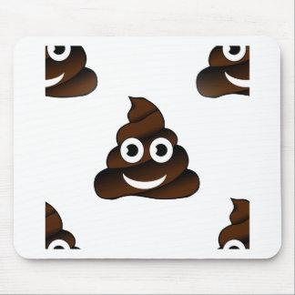 funny poop emoji mouse pad