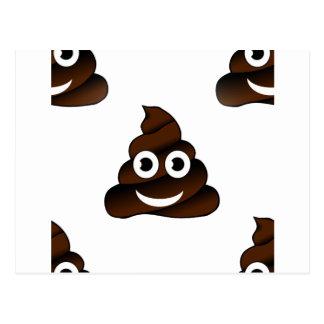 funny poop emoji postcard