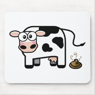 Funny Pooping Cow Mousepad