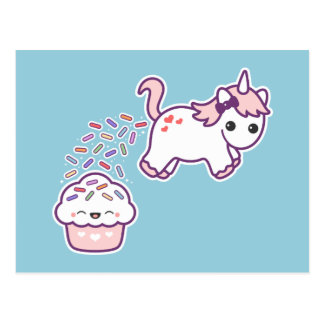 Funny Pooping Unicorn Postcard