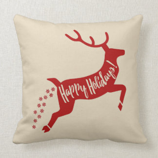 Funny Poopy Reindeer Cushion