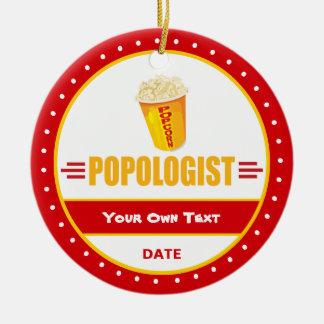 Funny Popcorn Ceramic Ornament