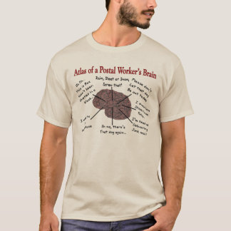 Funny Postal Worker's Brain T-shirts