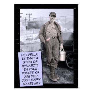 Funny Postcard - Dynamite?
