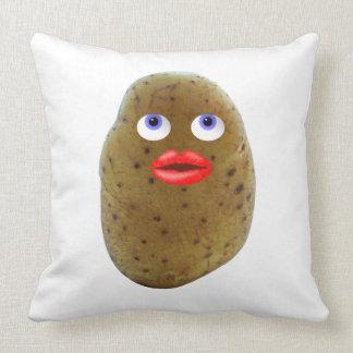 Funny Potato Cute Character Cotton Throw Pillow