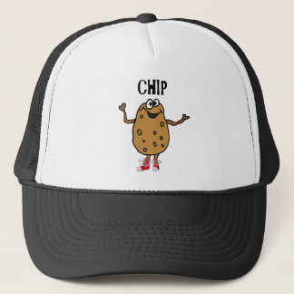 Funny Potato Named Chip Cartoon Trucker Hat