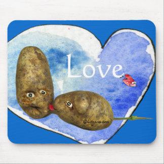 Funny Potatoes in Love/ Heart Mousepads