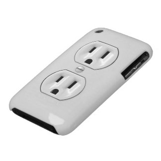 Funny Power Outlet Case-Mate iPhone 3 Cases