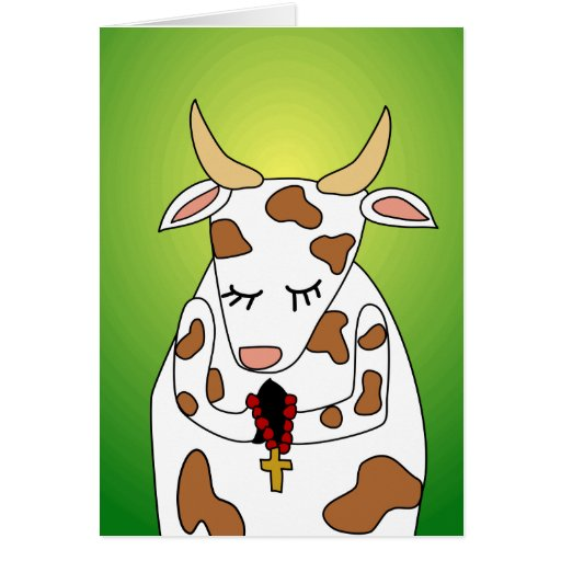 Funny Praying Holy Cow Old Age Humor Birthday Card