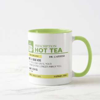 Funny Prescription Hot Tea - Lime Green