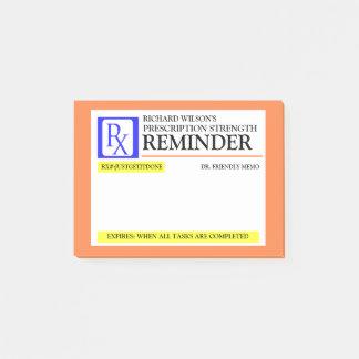 Funny Prescription Label Post-it Notes