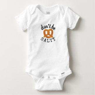 Funny Pretzel Don't Be Salty Baby Onesie