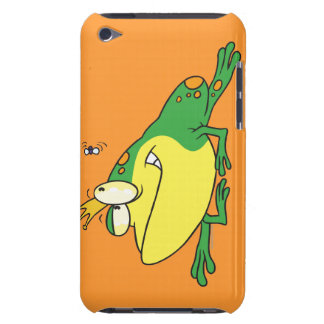 funny prince frog eyeing fly animal cartoon iPod touch case