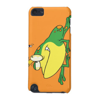 funny prince frog eyeing fly animal cartoon iPod touch 5G cases