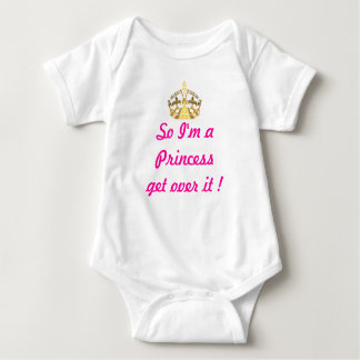 Funny princess text baby bodysuit